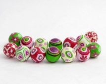 Springtime  set from polymer clay, handmade in germany,  fimo art