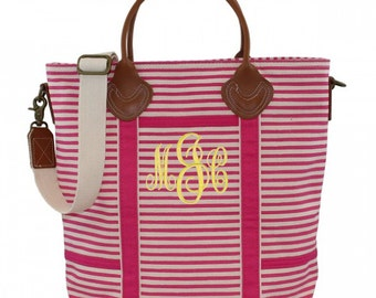 Monogram Flight Bag, Personalized Weekender Bag, Personalized Travel Overnight Bag - Available in Bag 3 Colors!