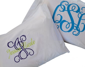 NEW! Monogram Pillow Cases