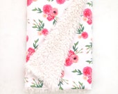 Baby Blanket Emmie Gray. The Cloud Blanket. Faux Fur Baby Blanket. Minky Baby Blanket. Floral Baby Blanket. Pink Floral Baby Blanket.