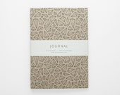 TERRAIN IV geometric journal A5 with lined pages
