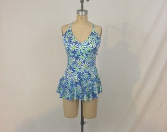 1980s Deweese Swimsuit - One Piece with Skirt