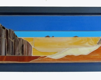 Stained Glass Mosaic Wall Panel: Desert Outlook