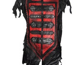 "Laura Diamond ""Luciferi leather vest men"""