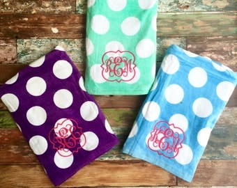 Monogrammed Beach Towel, Monogram Towel, Monogrammed gifts, Bridesmaid gifts, Monogram Beach Towels, Graduation gift, Corporate Gifts