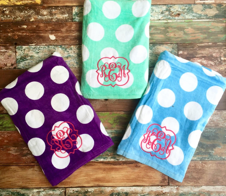 Monogrammed Beach Towel Monogram Towel Monogrammed Gifts