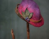 "woman's felt fairy hat ""wren"" made to order"