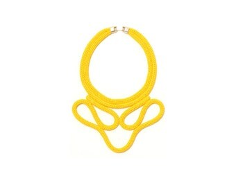 yellow buckle necklace