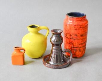 Vintage Scheurich vase collection Mid-Century