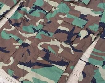 Vintage Grunge Camouflage Army Jacket
