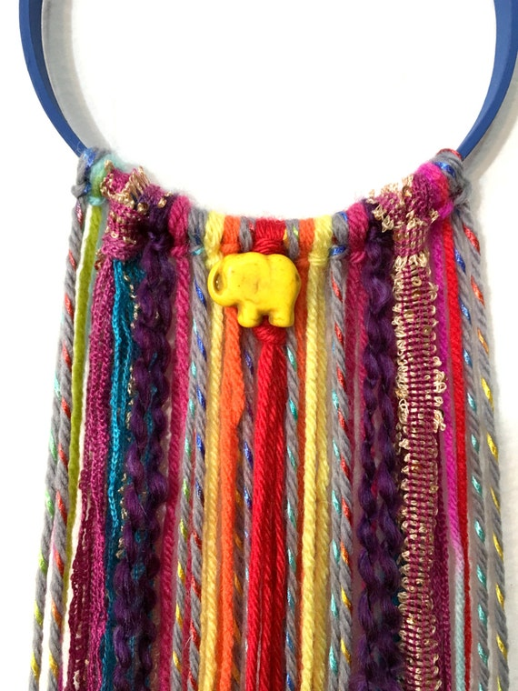 Yellow elephant wall hanging colorful home decor kids room Colorful elephant home decor
