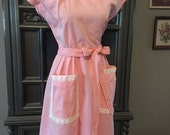 Reserved for Ruby 50s SWIRL WRAP Pink Gingham Summer Dress