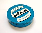 Vintage Blue Sellotape Tin