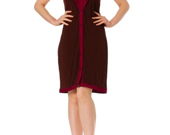 1990-1994 Glamorous Stephen Burrows Maroon Dress Size: XS/S