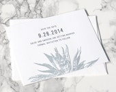 LETTERPRESS SAMPLE | Letterpress Save the Date | Save the Date without photo | Desert Save the Date | Cactus Save the Date | Casual Invite