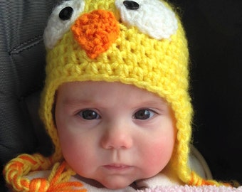 Chick-a-dee Hat with ear flaps
