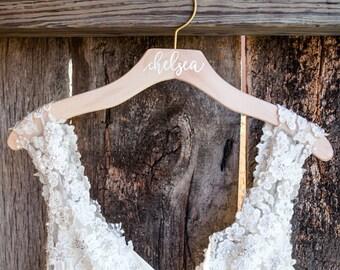 Personalized Wedding Dress Hanger, Calligraphy Hanger, Bride Hanger, Bridal Hanger, Personalized Engraved Hanger, Bridesmaid Gifts Hangers