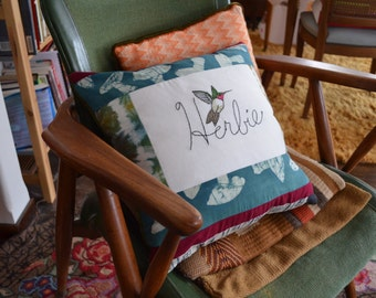Custom Namesake Embroidered Pillows With Animal
