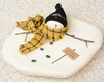 Melting Snowman, Melted Snowman, Whimsical Snowman, Frosty Snowman