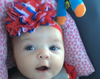 Deal of the Day July 4th Baby Headband, Infant Headbands, Baby Headbands, Baby Girl Headbands, Infant Bows, Baby Bows, Newborn Headbands