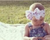 Baby Girl Headband, Baby Head bands, Knot Headband, Turban Headband, Pink Headband, Baby Bows, White Headband, Girl Headband, Knot Bow, Baby