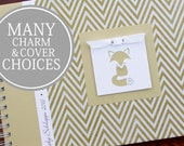 Baby Shower Guest Book   Fox Guestbook   Forest Woodland Animals   Personalized Memory Book   Gender Neutral   Gold Chevron