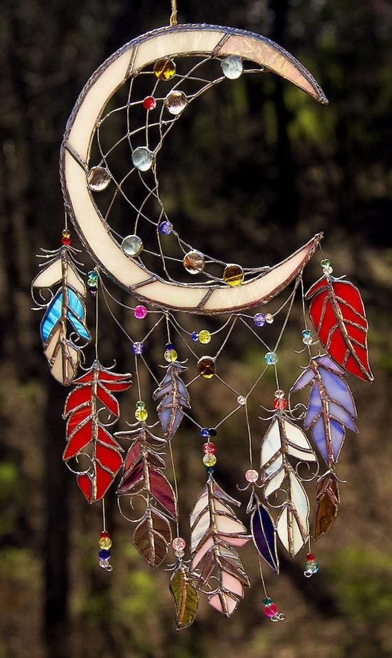 Tiffany Heart Bracelet >> Dream Catcher Stained Glass Sun Catcher Native American