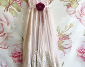pale mauve lilac & bisque silk organza layered boho wedding dress by mermaid miss kristin
