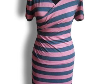 striped stretchy summer  dress by FedRaDD