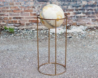 Vintage Brass Globe in the Manner of Paul McCobb
