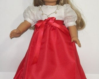 "American Girl 18"" Doll Red Valentine Dress and Accessories"