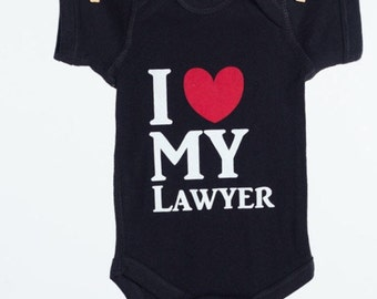 Personalized Baby Gift, Dad Lawyer Gift, Mom attorney baby gift, baby shower gift for an attorney, going home outfit for baby of lawyers,