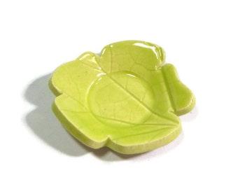 Pear green trivet - Neon green trivet - spoon rest - Tea Trivet and Spoon