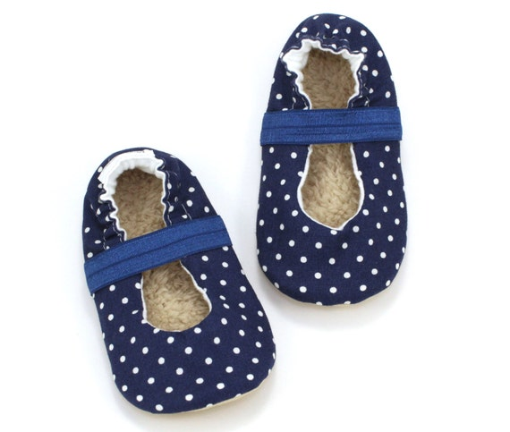 Navy Blue Mary Jane Shoes For Toddlers