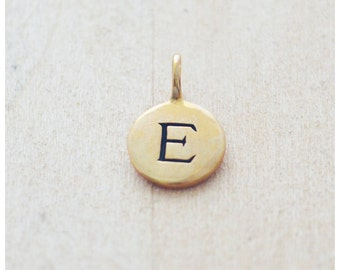 Bronze Initial Charm - Silver Letter Charm - Gold Letter Charm - Add On Initial Pendant - HerSilverLining