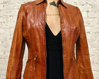 70s Eel Skin Jacket - Rare and Amazing