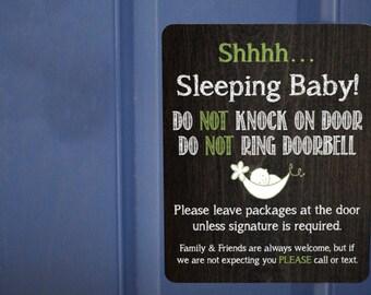 Baby Sleeping Magnet, Do Not Ring Doorbell Magnet, Front Door, Sleeping Baby No solicitation, No Soliciting, New Baby, no solicitation sign