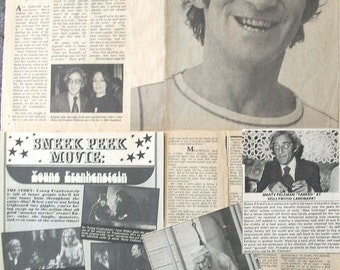 MARTY FELDMAN ~ Igor, Young Frankenstein, Silent Movie, In God We Trust, Yellowbeard ~ B&W Clippings, Articles, Pin-Ups from 1974-1978