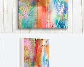 Abstract art printed on canvas - home and living - wedding gift