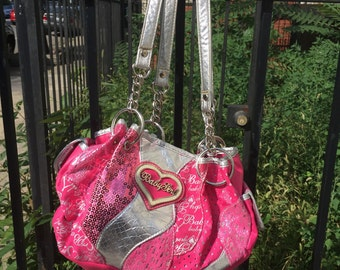 Hot Pink and Silver Baby Girl Bag 90s