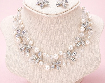 Wedding, Bridal Set, Necklace and Earrings, Style #254