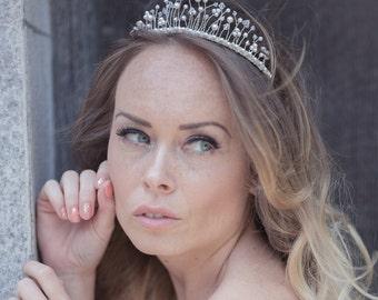 Swarovski pearl and crystal tiara