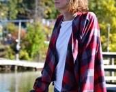 FreeBird Flannel Cardigan / Flannel Coat / Flannel Shirt / Maxi Coat / Flannel Poncho / Nursing Robe / Flannel Robe / Back to school fashion