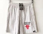 vintage chicago bulls front row shorts mens size medium
