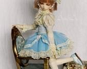 Vanilla Water OOAK handmade dress set for bjd dollfie msd doll size clothing clothes lolita kawaii style