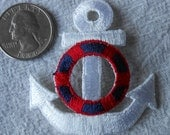 Applique Anchors with Liferings Blue White and Red Rings
