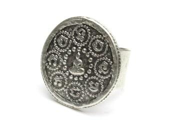Round Zen Buddha Ring