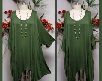 Dare2bStylish Lagenlook Plus size Long Tunic.  Over size, Stylish, Versatile,Soft and Comfortable. 3XL/4XL/5XL