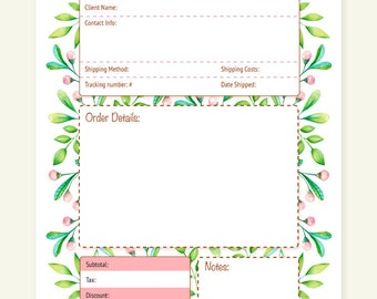 a4 order form | etsy, Invoice templates