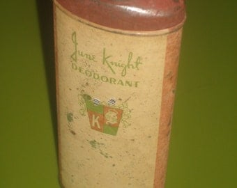 Vintage June Knight Deodorant Tin